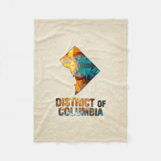 DISTRICT DE COLUMBIA de carte de parchemin de