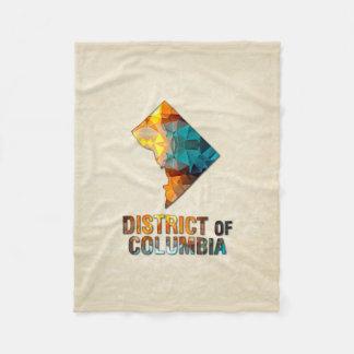 DISTRICT DE COLUMBIA de carte de parchemin de Couverture Polaire