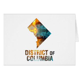 DISTRICT DE COLUMBIA de carte d'état de mosaïque