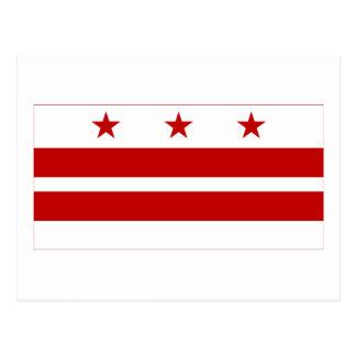 District de Columbia le drapeau Carte Postale