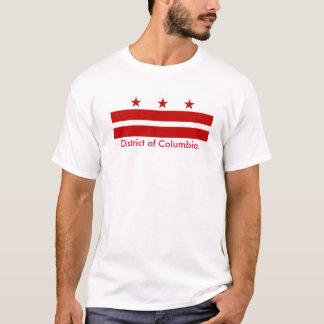 District de Columbia le T-shirt de drapeau