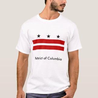 District de Columbia le T-shirt de drapeau d'état