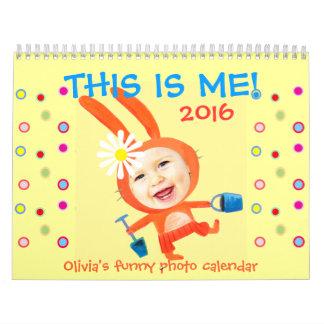 dit is me kinder grappige gepersonaliseerde foto kalender