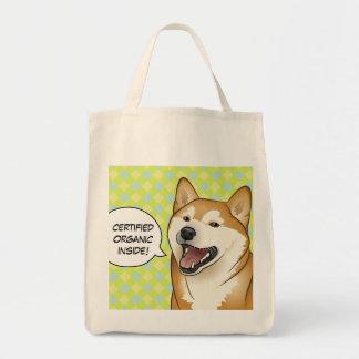 Dites le sac à provisions ORGANIQUE de chien de