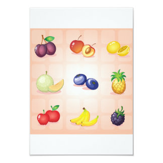 Diverses invitations de fruits