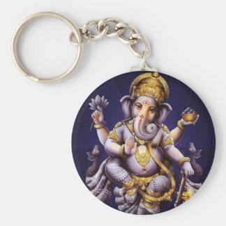 Divinité indoue d'éléphant asiatique de Ganesh Porte-clé Rond