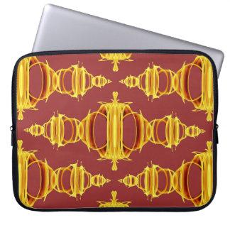 Diviseurs de motif 03 Brown d'or au-dessus du Housse Pour Ordinateur Portable