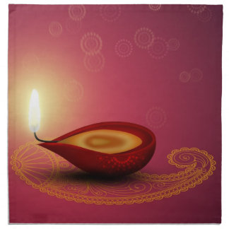 Diwali heureux brillant Diya - serviette