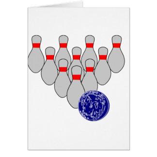 Dix cartes de note de bowling de Pin
