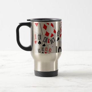 Dix, cartes de tisonnier, tasse de café de