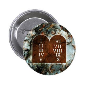 Dix commandements badge rond 5 cm