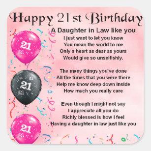 Dochter In Het Gedicht Van De Wet 21ste Vierkante Sticker