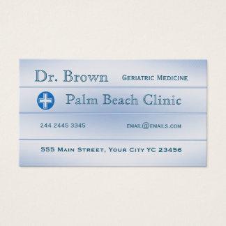 Docteur bleu Medicine Appointment de Shadded Ombre Cartes De Visite