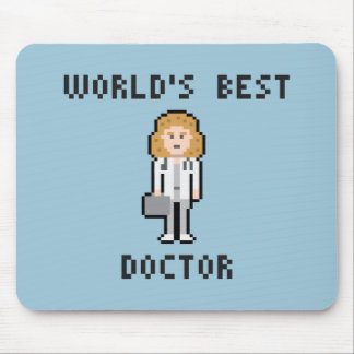 Docteur Female Version Mousepad du monde de pixel Tapis De Souris