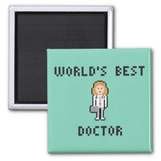 Docteur féminin Magnet de pixel