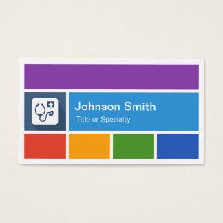 Docteur professionnel - style moderne créatif de carte de visite standard
