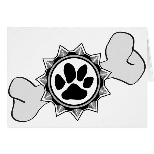 DogsRule_Logo_Bone Carte De Vœux