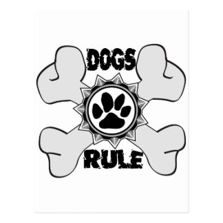 DogsRule_Logo_CrossBones_Copy Cartes Postales