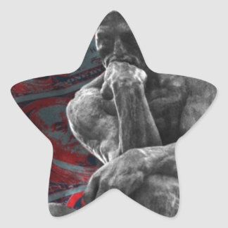 Dollars Auguste Rodin d'argent liquide le penseur Sticker Étoile