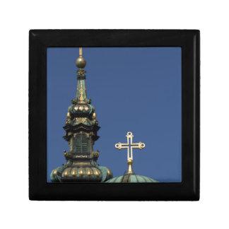 Dômes orthodoxes d'église chrétienne boîte à souvenirs