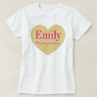 Domestique de scintillement d'honneur t-shirt
