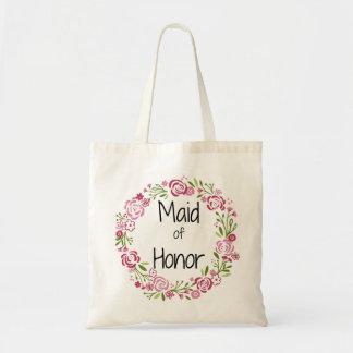 Domestique d'honneur beau Fourre-tout floral Sac En Toile Budget