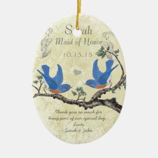 Domestique vintage d'oiseaux bleus des ornements