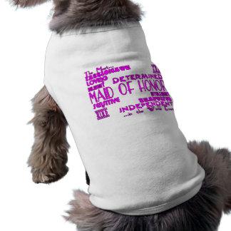 Domestiques des faveurs de noce d'honneur : t-shirts pour animaux domestiques