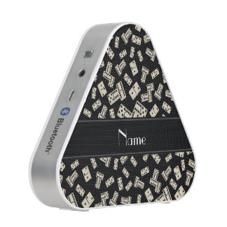 Dominos noirs nommés personnalisés haut-parleur bluetooth
