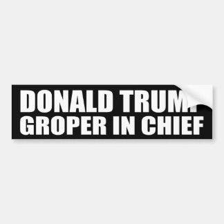 """""""DONALD TRUMP : GROPER DANS LE CHEF """" AUTOCOLLANT DE VOITURE"""
