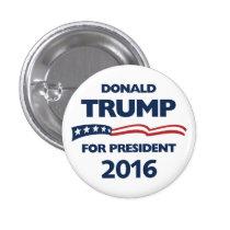 Donald Trump voor president 2016 Ronde Button 3,2 Cm