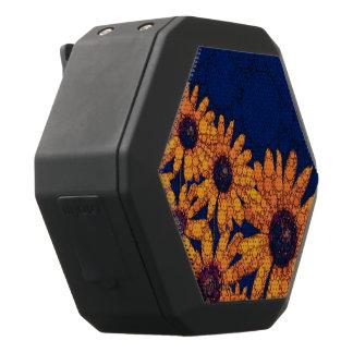 Donkerblauwe Heldere Oranje Zonnebloemen Zwarte Bluetooth Speaker