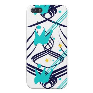 Donkerblauwe Vectoren op het Geval van het Speck v iPhone 5 Covers