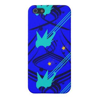 Donkerblauwe Vectoren op het Ware Blauwe Geval van iPhone 5 Cover