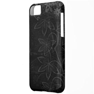 Donkere Vectorbloemensamenvatting iPhone 5C Hoesje