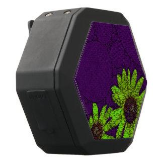 Donkerpaarse Fluorescente Zonnebloemen Zwarte Bluetooth Speaker