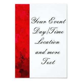 donkerrode plonsen van kleur, 8,9x12,7 uitnodiging kaart
