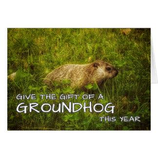 Donnez au cadeau d'un Groundhog cette carte