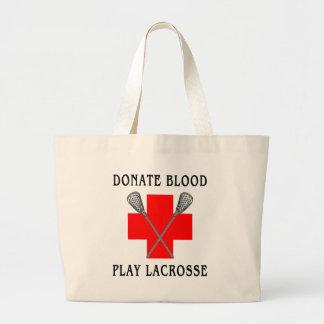 Donnez le cadeau de lacrosse de jeu de sang grand sac