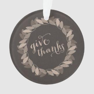 Donnez l'ornement de thanksgiving des mercis |