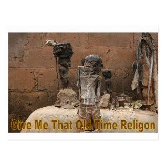 Donnez-moi qui religion ancienne cartes postales