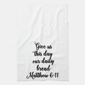 Donnez-nous ce jour notre serviette quotidienne de