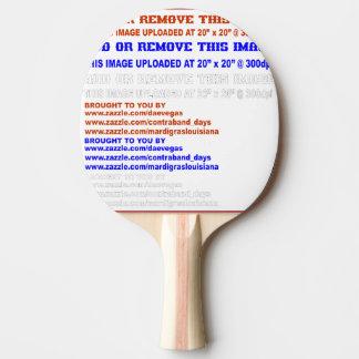 Dos en caoutchouc de noir de palette de ping-pong raquette tennis de table
