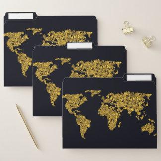Dossier Carte d'or du monde de point