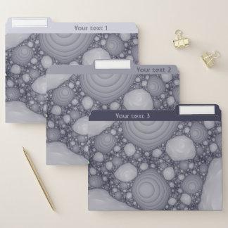 Dossier Fractale grise. Ajoutez votre propre texte