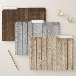 Dossiers en bois de grain de Barnwood