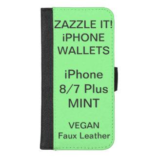 Douane Gepersonaliseerde iPhone 8/7 van de MUNT iPhone 8/7 Plus Portemonnee Hoesje