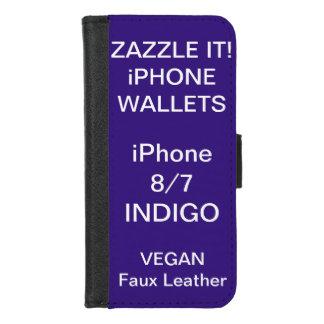 Douane Gepersonaliseerde iPhone van de INDIGO 8/7 iPhone 5 Portefeuille Hoesjes