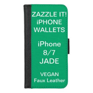 Douane Gepersonaliseerde iPhone van de JADE 8/7 iPhone 8/7 Portemonnee Hoesje