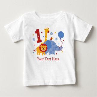 Douane van de Verjaardag van de safari de 1st Baby T Shirts